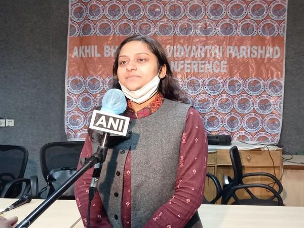 ABVP National General Secretary, Nidhi Tripathi (Photo ANI)
