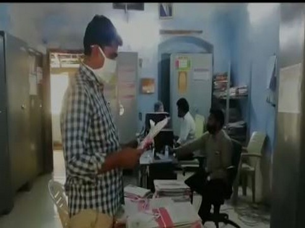 ACB officials conduct raid at Office of RDO in Andhra Pradesh's Nellore on Tuesday. Photo/ANI