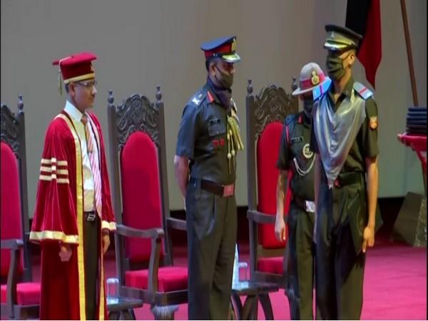 115th graduation ceremony held at Army Cadet College in Dehradun on Friday. (Photo/ANI)