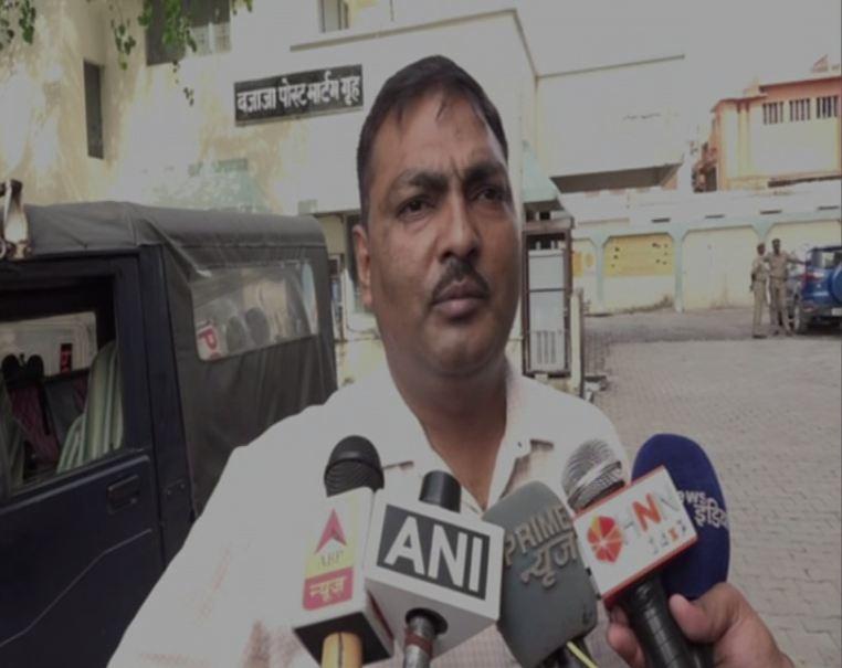 ACM Fort Agra Ambarish Kumar Bind speaking to reporters on Wednesday.