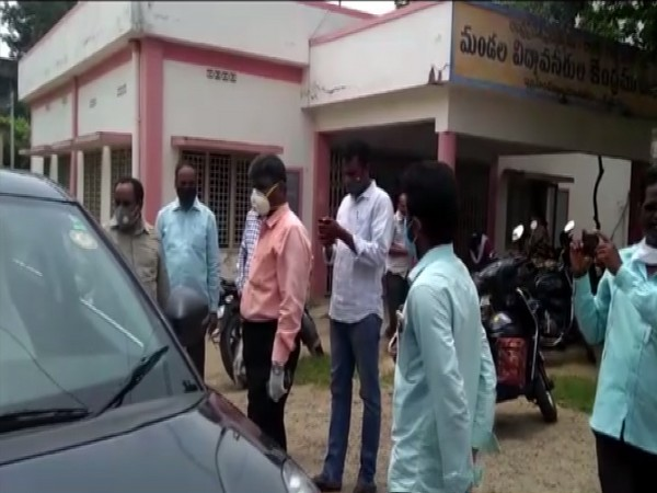 Visual from raid carried out by ACB officials in Andhra Pradesh. Photo/ANI