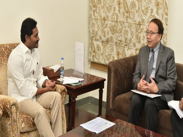 A delegation of New Development Bank (NDB) met Chief Minister YS Jagan Mohan Reddy.