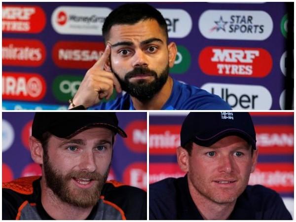India's Virat Kohli (top); New Zealand's Kane Williamson (below left); England's Eoin Morgan (below right)