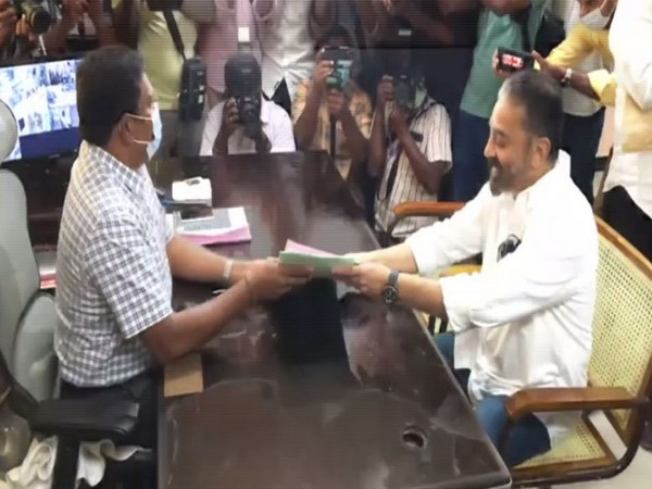 Kamal Haasan filing his nomination from Coimbatore South Constituency