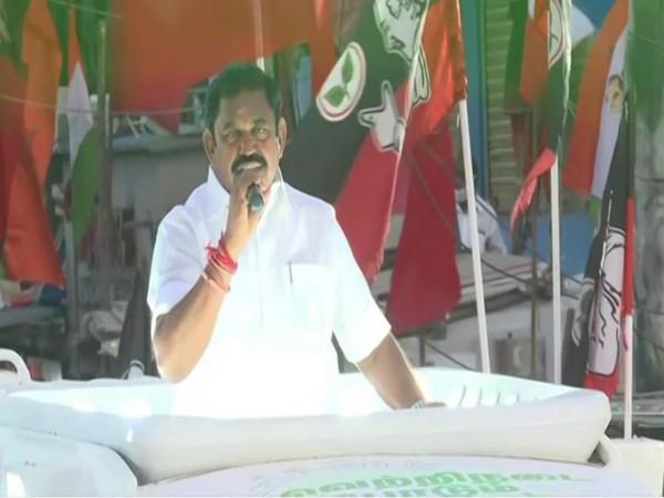 Chief Minister Edappadi K Palaniswami speaking in Tambaram on Wednesday.