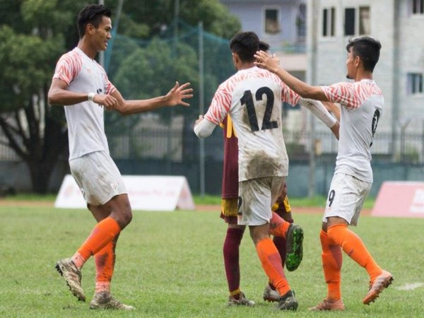 India defeated Sri Lanka in the SAFF U-18 Championship in Kathmandu on Wednesday. (Photo/ Indian Football Team Twitter)