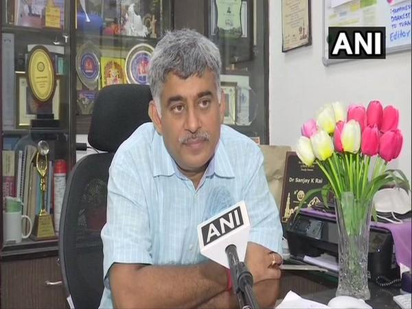 Dr Sanjay Rai, Head-Community Medicine Department, AIIMS speaking to ANI on Friday. Photo/ANI