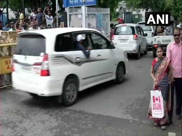 BSP chief Mayawati arriving at AIIMS to visit Arun Jaitley on Saturday. Photo/ANI