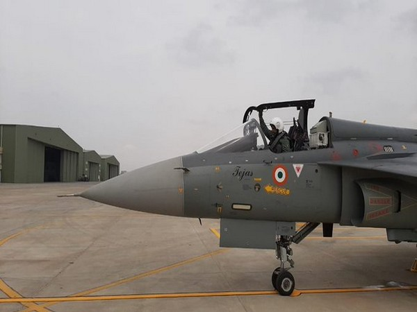 IAF Chief Air Chief Marshal RKS Bhadauria flew the Light Combat Aircraft Tejas fighter with 45 Squadron at Air Force Station Sulur. [Photo/ANI]