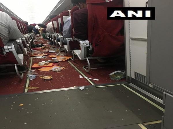 Visuals of AI-467 Delhi to Vijayawada flight after the incident on September 17. Photo/ANI