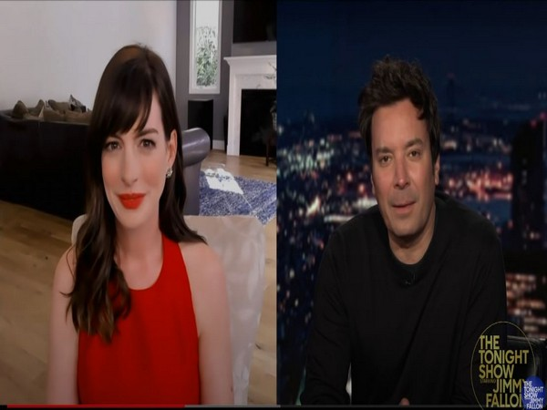 Anne Hathaway and Jimmy Fallon (Image courtesy: YouTube)