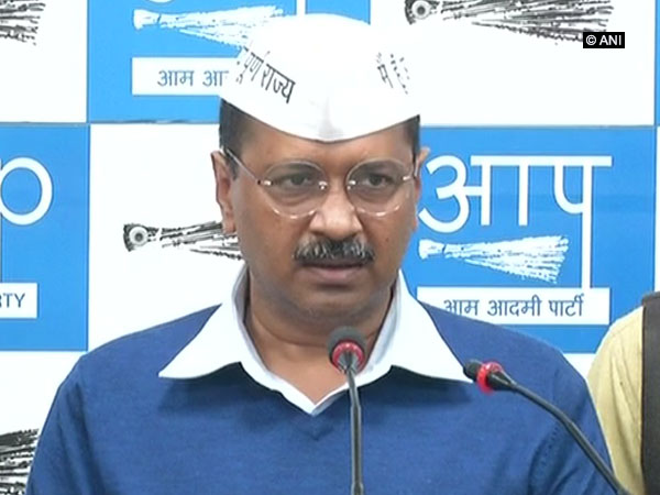 Delhi Chief Minister Arvind Kejriwal addressing a press conference in Delhi on Tuesday.