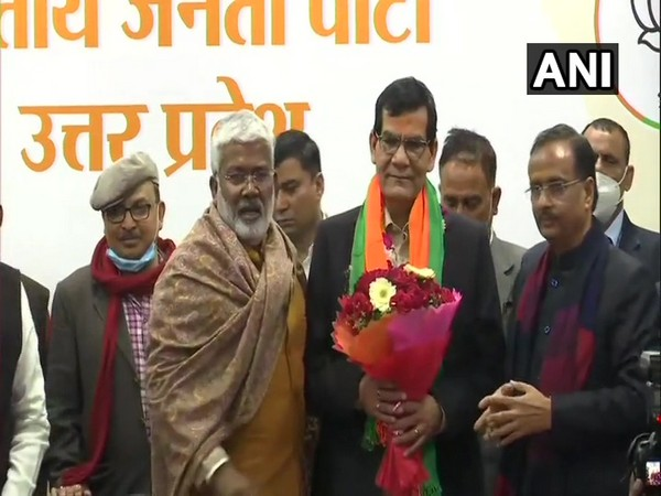 Former IAS officer AK Sharma joined BJP in Lucknow on Thursday.