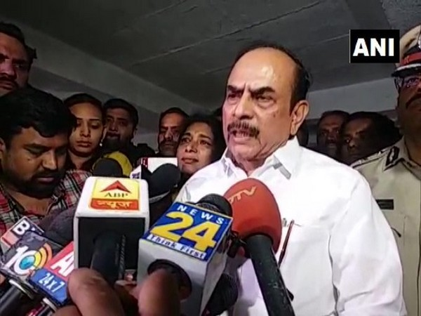 Telangana Home Minister Mohammed Mahmood Ali speaking to reporters in Hyderabad on Friday. Photo/ANI