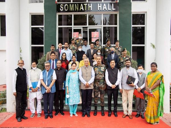 Parliamentary Committee visits Chinar Corps in J-K's Srinagar. (Photo/ANI)