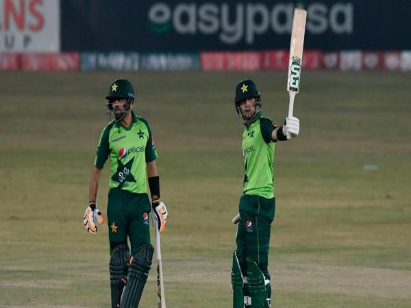Pakistan batsmen Haider Ali and Babar Azam (Photo/ ICC Twitter)