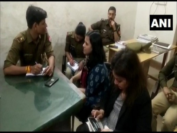 Visual of Amazon Prime's India head of original content Aparna Purohit at Hazratganj police station (Photo/ANI)