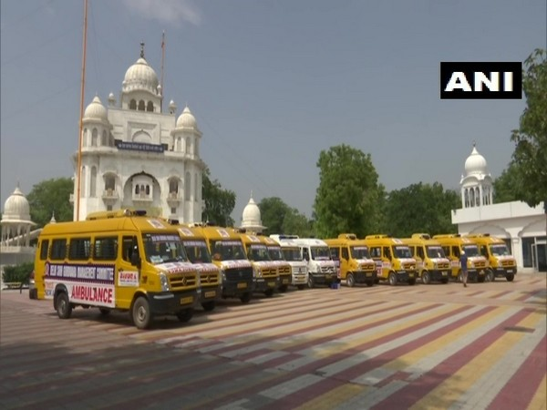 Ambulances provided by DSGMC will be be stationed in various parts of Delhi. (Photo/ANI)