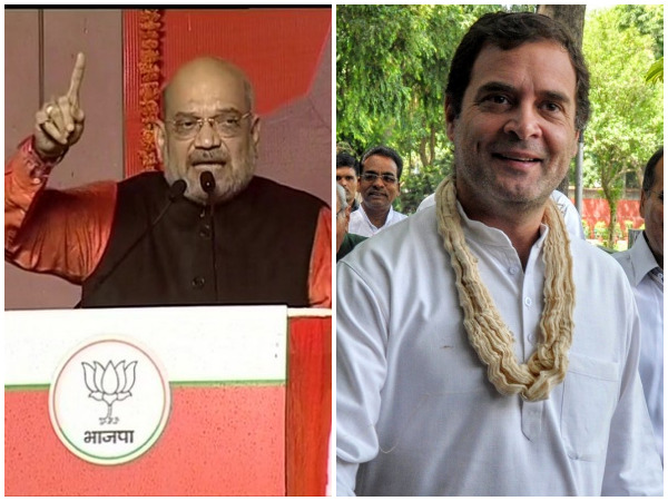 Home Minister Amit Shah and Congress president Rahul Gandhi