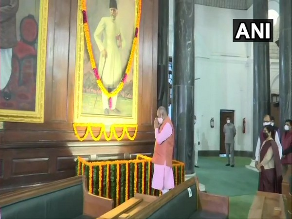Lok Sabha Speaker Om Birla pays tribute to Maulana Abul Kalam Azad on his birth anniversary (Photo ANI)