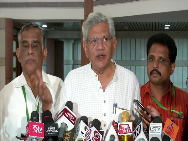 CPI-M General Secretary Sitaram Yechury addressing media persons after the all-party meeting in New Delhi on Wednesday. Photo/ANI