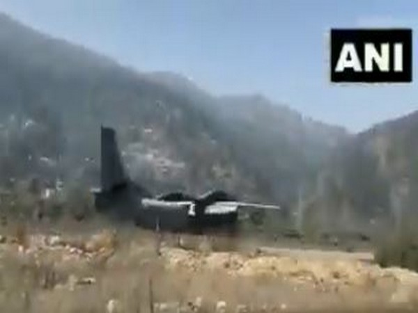 AN-32 cargo carrier was seen landing at Chinyalisaur airstrip in Uttarkashi on Tuesday.