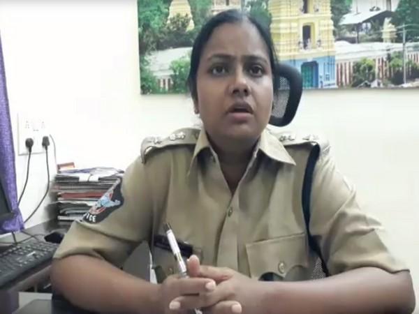 CID SP Mary Prasanti talking to ANI in Amaravati, Andhra Pradesh on Thursday. Photo/ANI
