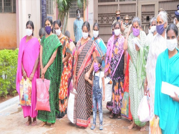 53 female prisoners were released from difference jails in Andhra Pradesh