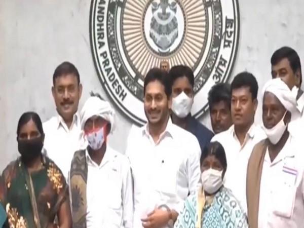 Andhra Pradesh, Chief Minister YS Jagan Mohan Reddy virtually launches 'Jagananna Jeeva Kranthi' scheme (Photo ANI)