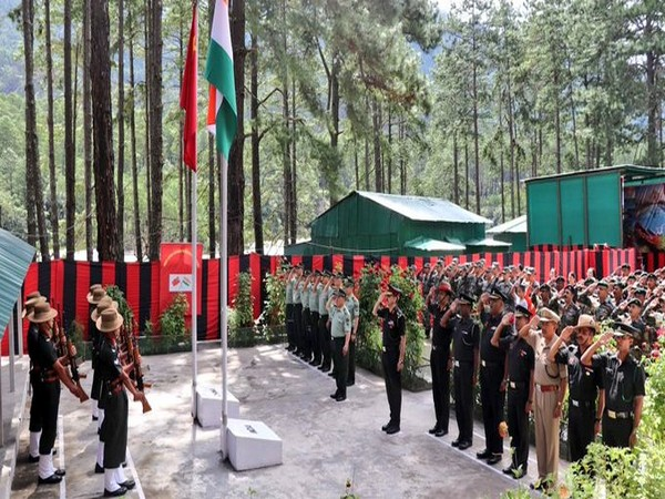 Indian Army on Saturday took the handover of all five Indian nationals at Kibithu border post (Picture tweeted by Union Minister Kiren Rijiju)
