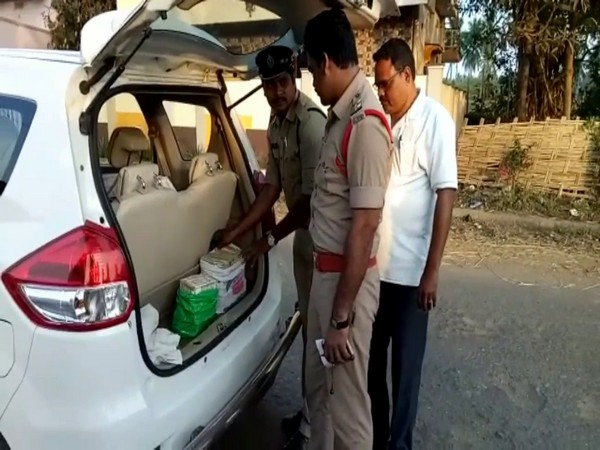 The car from which the cash was recovered. Photo/ANI