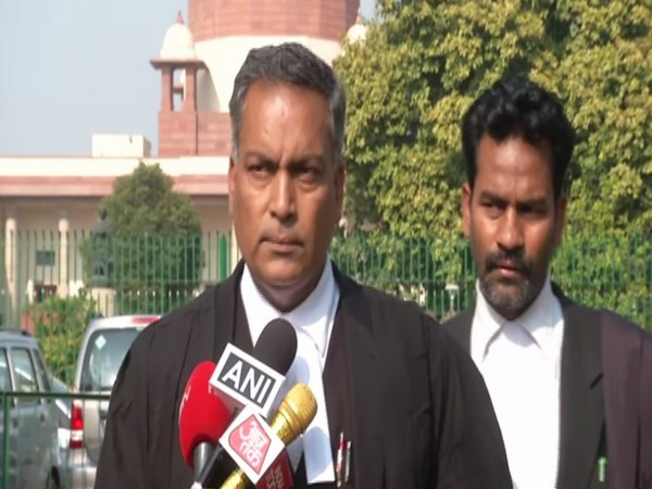 Advocate AP Singh, who is representing the death row convicts in the Nirbhaya gangrape and murder case, talking to reporters in New Delhi on Thursday. Photo/ANI