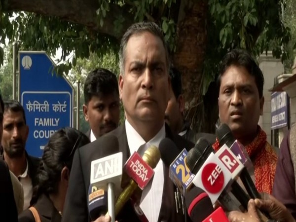 Advocate AP Singh, lawyer of Nirbhaya convict Vinay Sharma, talking to reporters in New Delhi on Saturday. Photo/ANI