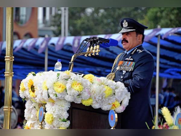 Air Chief Marshal RKS Bhadauria addressing the graduating trainees