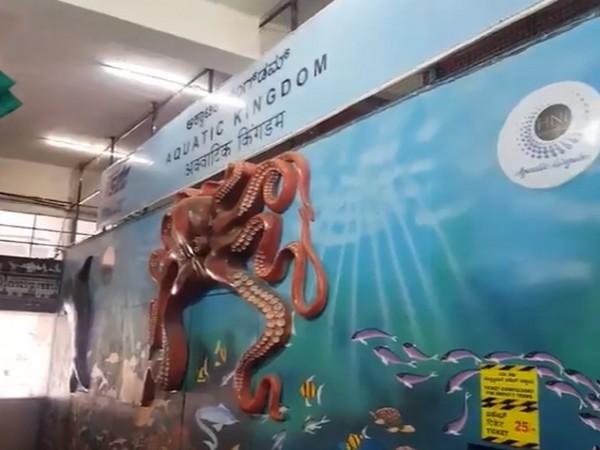 First movable freshwater tunnel aquarium at KSR Bengaluru railway station (Photo/Twitter)