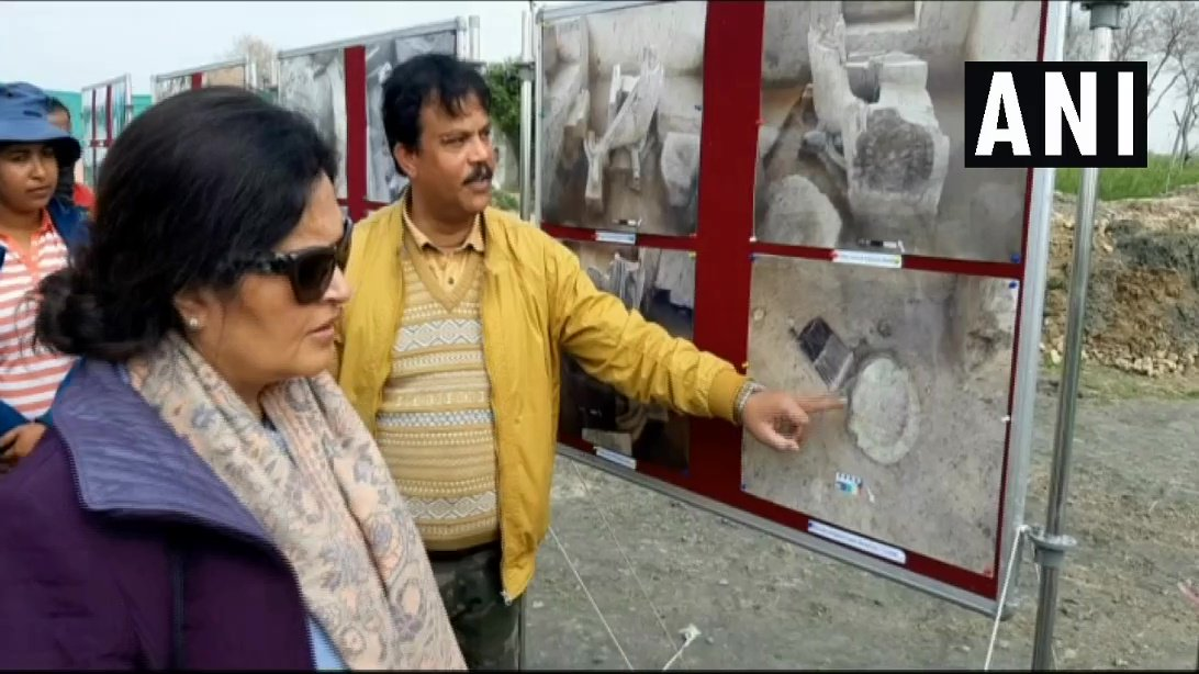 Director General of Archaeological Survey of India visits Baghpat excavation site