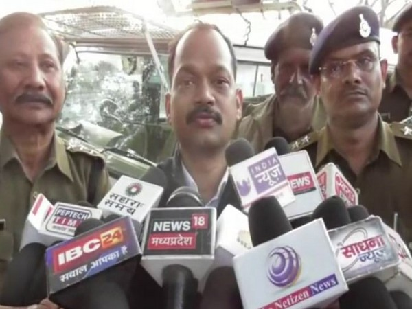 Additional Superintendent of Police (ASP) Jayaraj Kuber talking to reporters here on Saturday.