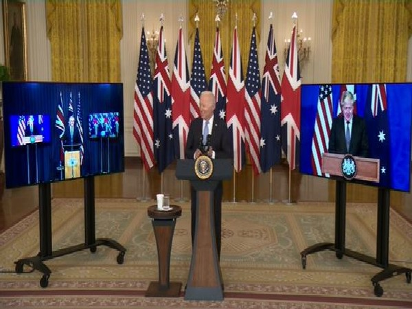 US Presiedent Joe Biden making an announcement about the the Aukus defence pact last week.