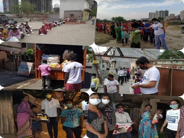 COVID-19 relief work by Aahwahan Foundation