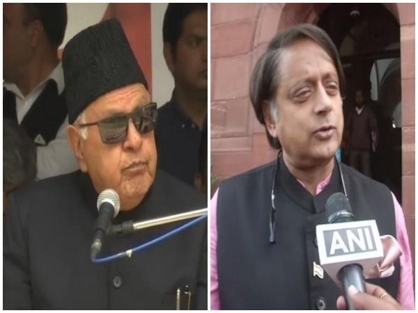 Farooq Abdullah, Shashi Tharoor (File Image)