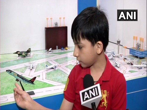 9-yr-old Abeer Magoo, to celebrate his 10th birthday at IGI airport, after he made a model of airport