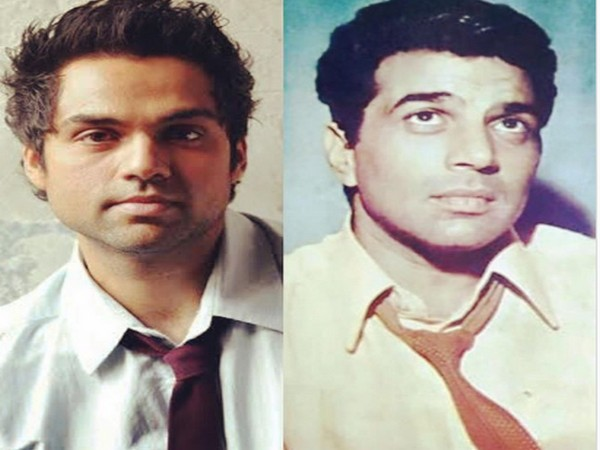 Actor Abhay Deol and his uncle and veteran actor Dharmendra Deol (Image Source: Instagram)