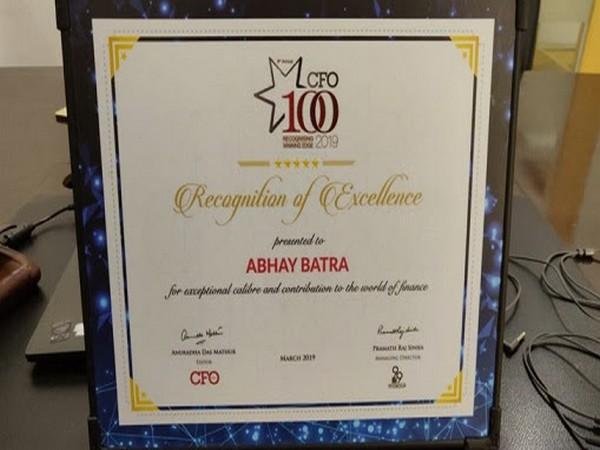 Abhay Batra - CFO100 program 2019