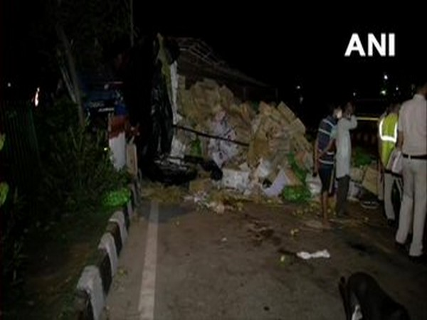 Visual from the accident spot in Nand Nagri, New Delhi on Sunday. Photo/ANI