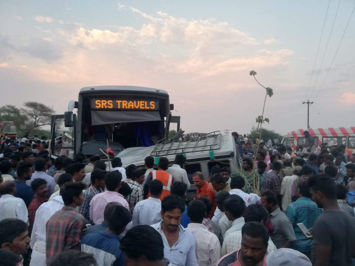 The accident took place on Bangalore highway. Photo/ANI