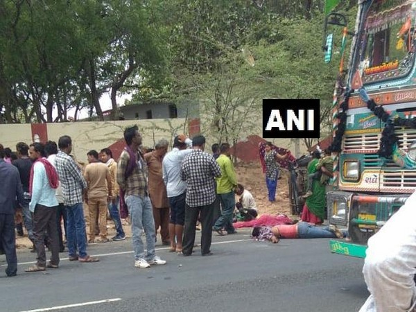 The mishap which took place near Mankuwa area in Kutch district of Gujarat on Monday. Photo/ANI