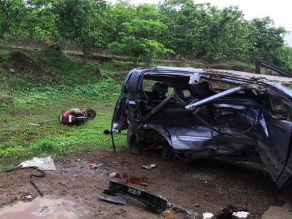 An image from the accident spot in Palghar [Photo/ANI]