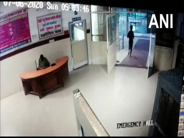 Rape accused escapes from district hospital in Bhind on Sunday. Photo/ANI