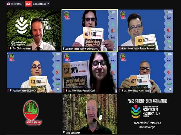 Tim Christophersen, UNEP inaugurates Magazine, Rajiv K Shrivastava, JK SIngh, Paavani, Nayer Iqbal, Rony Anthony and MIka Vanhanen in frame