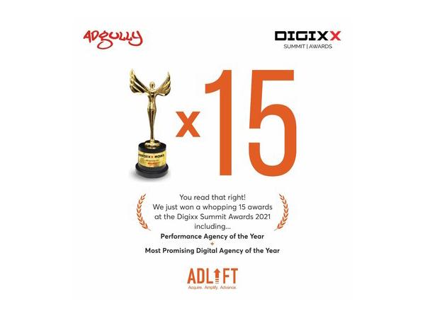 AdLift Sweeps 15 Awards at Adgully Digixx 2021